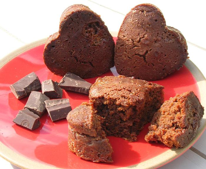 Fondants au chocolat caramel et son caramel au beurre sal cocotte et biscottecocotte et biscotte - Fondant caramel beurre sale ...