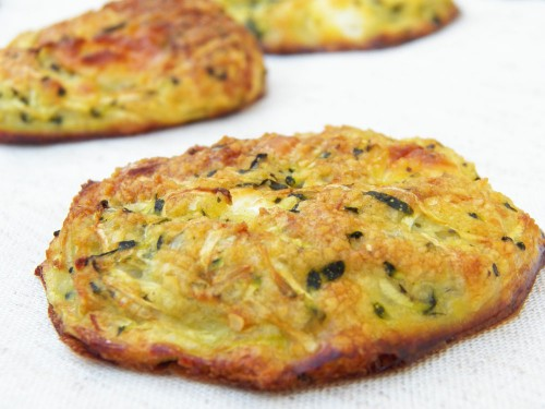 Galettes courgette feta