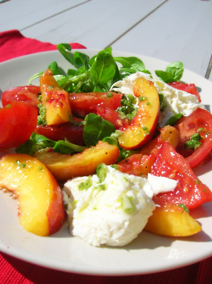 Tartines With Mozzarella, Basil, And Nectarines Recipe ...
