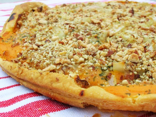 Quiche potiron, patates douces en crumble