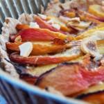 tarte aux pêche, amandes et pâte aux speculos sans beurre