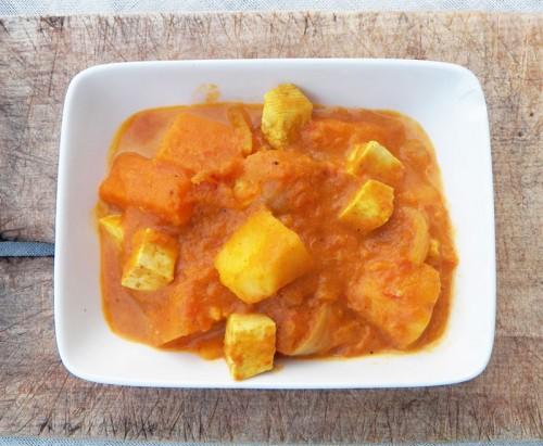Mijot de potimarron patate douce pomme tofu cocotte et biscottecocotte et biscotte - Cuisson patate douce cocotte minute ...