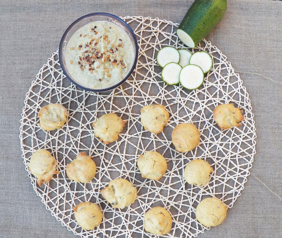 cupcakes végétaliens et dip de courgette